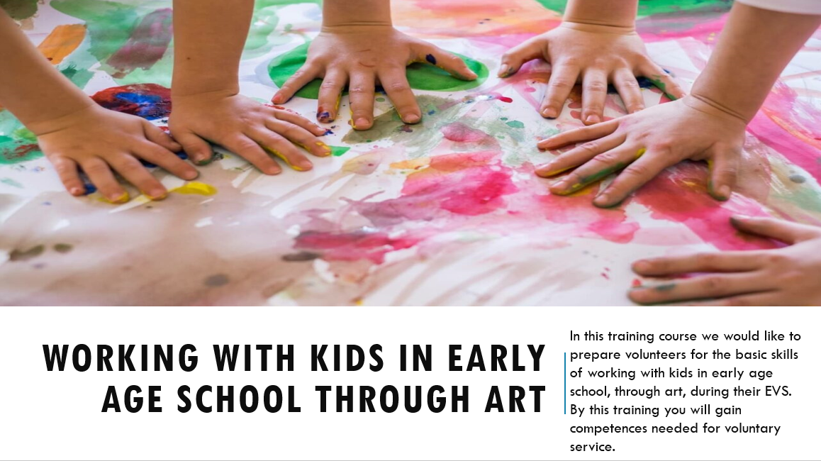 Working with kids in early age school through art